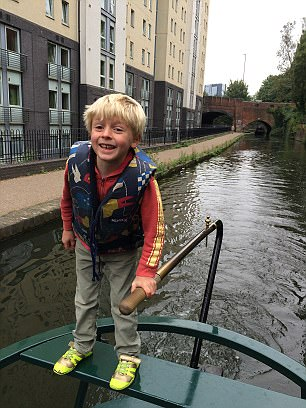 Guy's six-year-old son William takes over