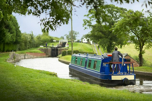 Guy found it tricky to navigate their 70ft cruiser at first but once he got the hang of it, the whole family enjoyed their canal barge ride through the Black Country