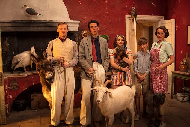 Quirky: The cast of The Durrells, a show about the mishaps and adventures of an eccentric English family in Corfu in the Thirties