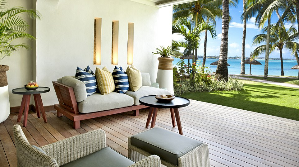 Getting into the swing of things: Roomy villas with light breezy interiors look out on to the ocean