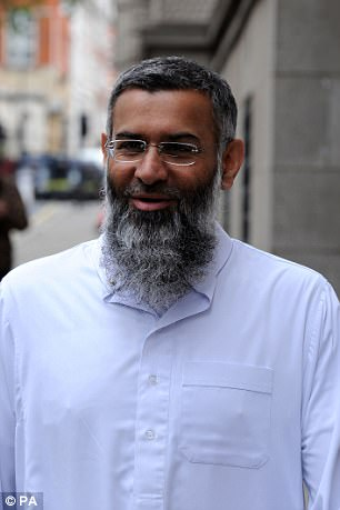 Rayah appeared in propaganda videos for the banned terror group and was pictured standing beside Choudary (pictured)  at a number of hateful protests