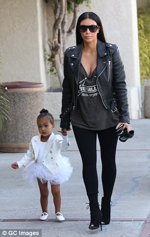 She used to wear leather all the time! In 2015 with daughter North West