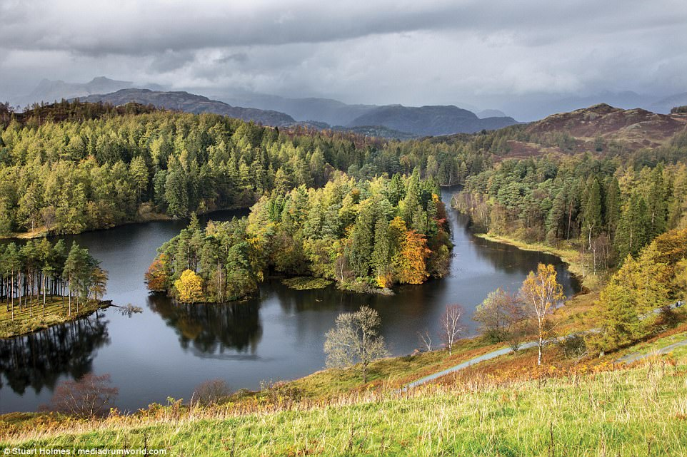 Perfect place to picnic: Tarn Hows is an area of the Lake District National Park containing a picturesque mountain lake and a thick carpeting of trees