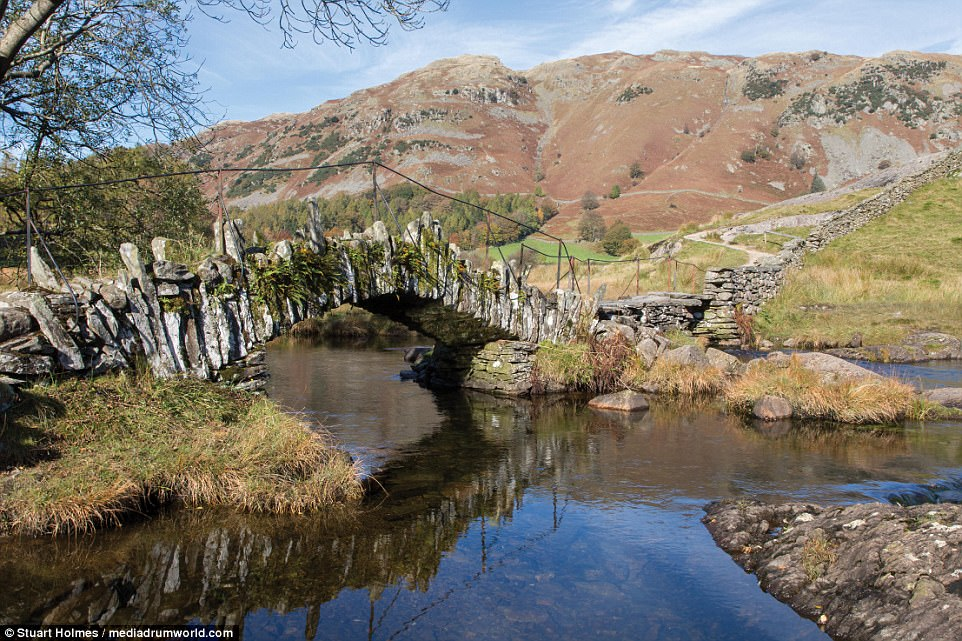 Stepping back in time: Slater's Bridge is an ancient pedestrian walkway constructed out of local slate stone