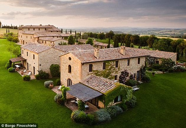 After his work requirements, it is reported that he will kick back at the Borgo Finocchieto, a luxury 44-bed retreat in Tuscany