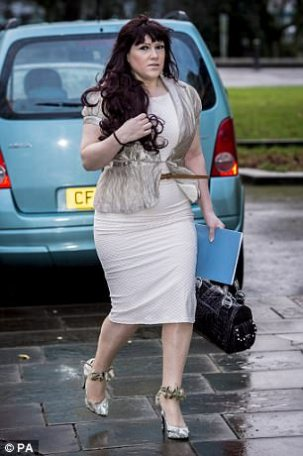 Watkins's former girlfriend Joanne Mjadzelics, 41 (pictured in 2015) claimed she told police about the singer's crimes but was repeatedly ignored