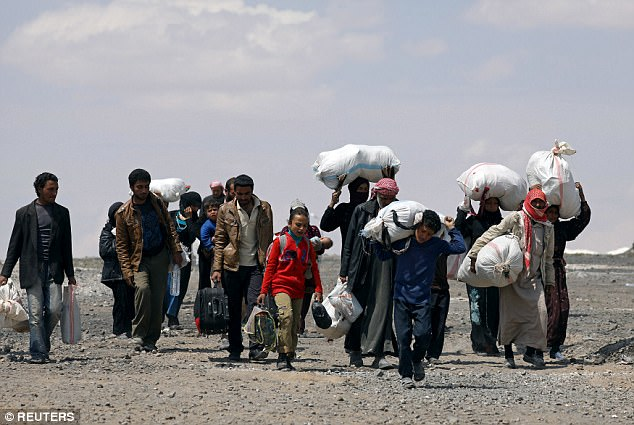 Target Raqqa: People of the city have been fleeing to internal refugee camps as the assault on it looms and aerial bombardment is stepped up