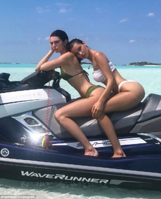 'You feel me?' Kendall Jenner and Bella Hadid showed why they are the world's top models as they posted a series of Instagram snaps from a secret holiday location on Tuesday