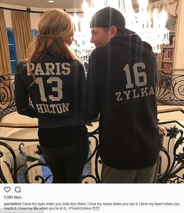 Team Us: Paris posted a series of sweet snaps of boyfriend  as he celebrated his 32nd birthday last week
