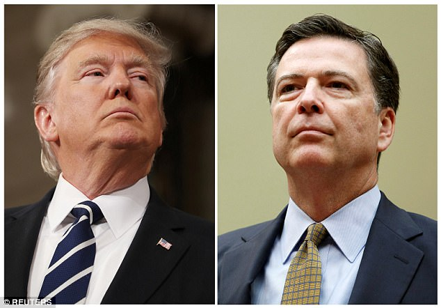 President Donald Trump's (left) decision to fire FBI Director James Comey (right) on Tuesday in the midst of the bureau's investigation into his campaign's possible ties to Russia outraged Democrats and liberal-leaning pundits who warned of a constitutional crisis
