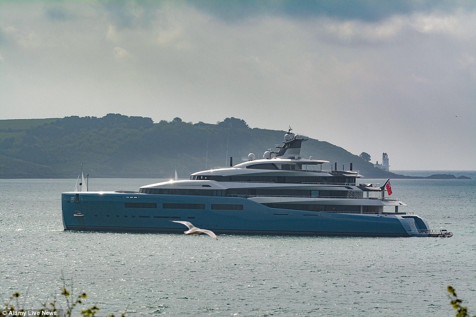Spurs Owners Yacht Aviva Takes To The Water Daily Mail