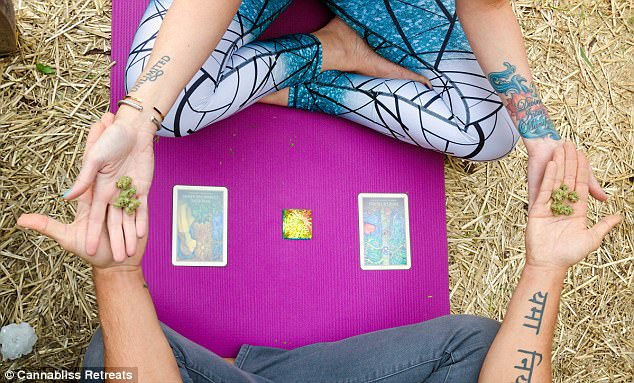 Unlocking the soul: Tarot card reading sessions are also on offer at the five-day camp, with cannabis thrown into the mix