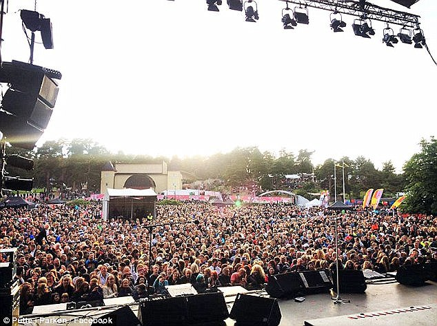 At least 35 aged between 12 and 17 reported being attacked during the 'Party in the Park' festival in Karlstad, 250 miles from Stockholm in Sweden's Varmland County