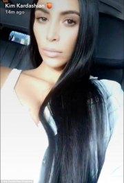 kim kardashian shows hair