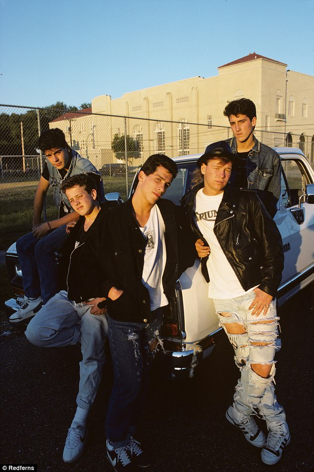 Teen heartthrobs: New Kids on The Block were one of the hottest pop sensations of their time