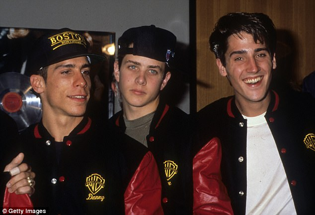 Heydey: In 1988 Danny Wood, Joey McIntyre and Jonathan Knight (pictured left to right) were fresh-faced stars in New Kids on The Block