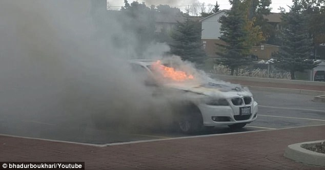 In October of 2016, Tar Zaide had just parked his 2011 BMW 328 in an Oshwa, Canada parking lot on his way to visit a client when it began smoking and then burst into flames