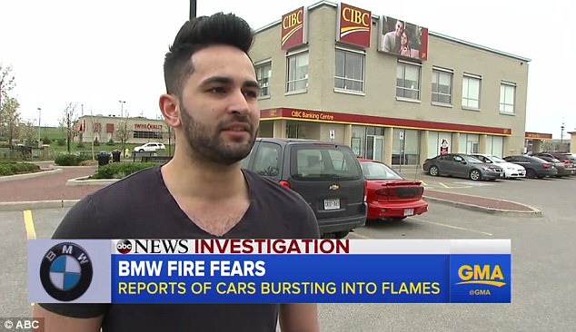 Tar Zaide had just left his 2011 BMW 328 for a few minutes when it burst into flames