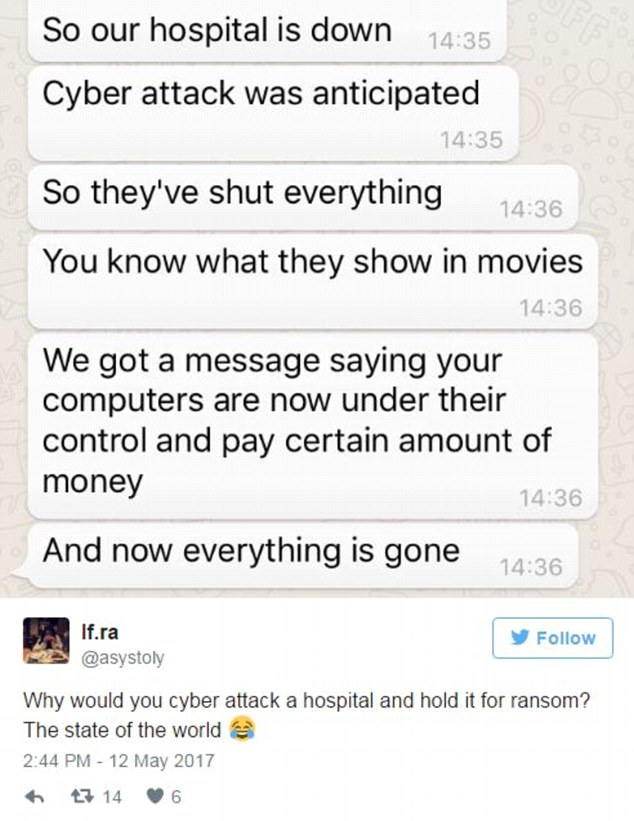 Medics have claimed that messages are flashing up on screens saying they must pay cash or terminals are down completely