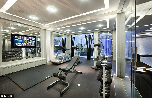Naturally, the villa came with a gym fit for a king