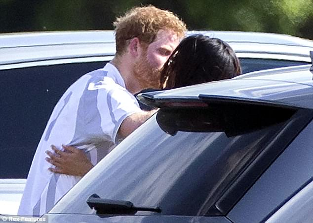 Prince Harry and his girlfriend Meghan Markle kissed at the polo sparking rumours they are to become engaged soon
