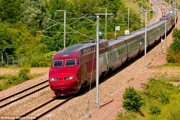 Jeremy snaked down the French Mediterranean coast aboard the TGV, France's high-speed rail service (pictured)