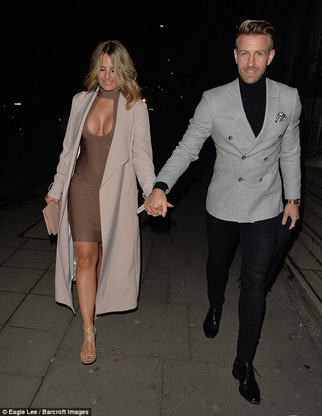 Smitten: Danielle and her Herne Bay footballer beau have been dating since earlier this year - their romance came almost six months after her split with ex-boyfriend James Lock