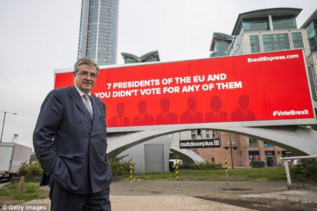 The Cambridge University educated businessman, who gave the Tories a £100,000 donation before the last election, ran the Brexit Express poster campaign before the EU referendum