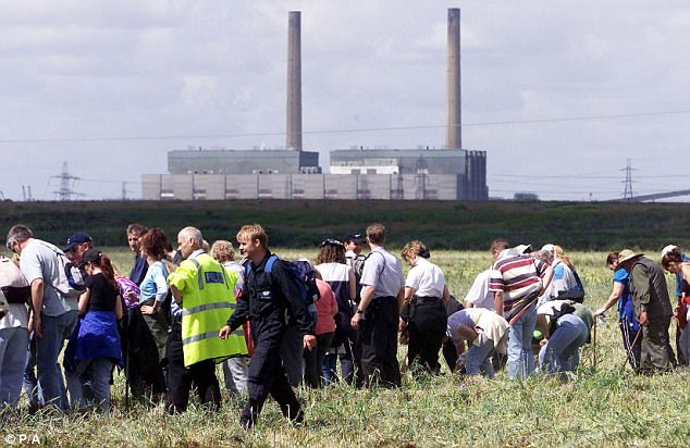 Scores of volunteers from the area took part for a search for clues in the case in 2001