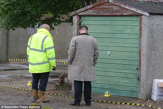 The search started after a cold case review led to the garages being identified as of interest