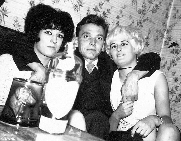 Brady (pictured with Myra Hindley and her younger sister Maureen) was jailed for three murders in 1966