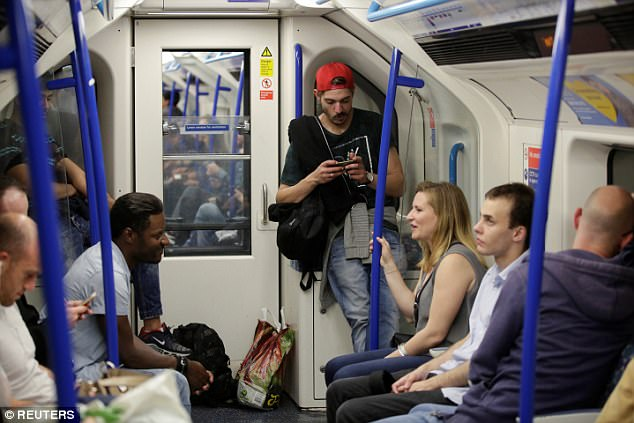 The Victoria line was found to be the dirtiest, with 22 types of potentially harmful bacteria