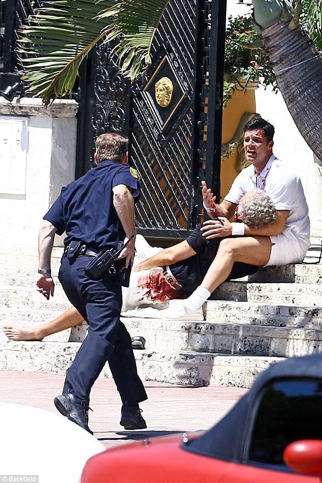 Ricky Martin shows off banging body in tiny swim shorts