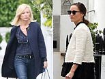 The Duchess of Cambridge's stylist, Amanda Cook Tucker, was seen wheeling a suitcase into the £17 million mansion Pippa shares with her millionaire fiancé
