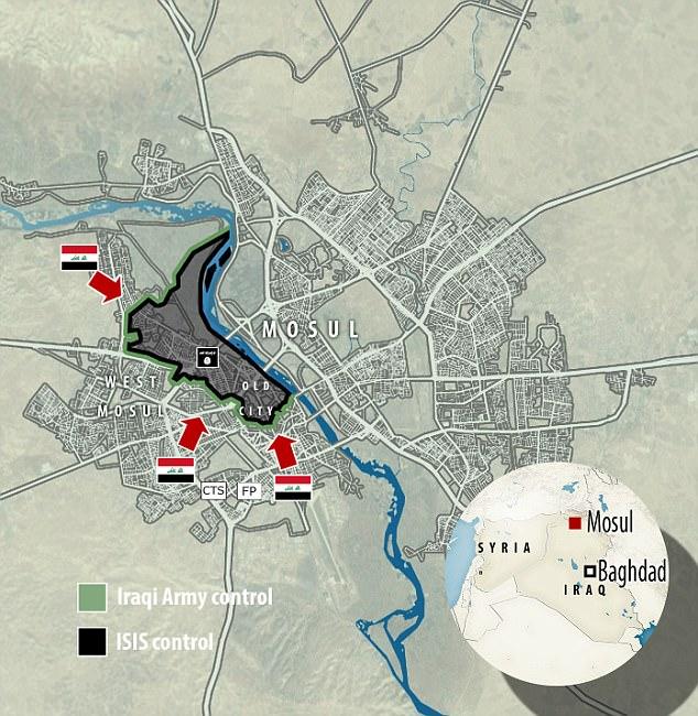 Después de haber liberado la mitad oriental de la ciudad en enero, las fuerzas iraquíes se están preparando para hacer un último esfuerzo contra los yihadistas en la ciudad sitiada