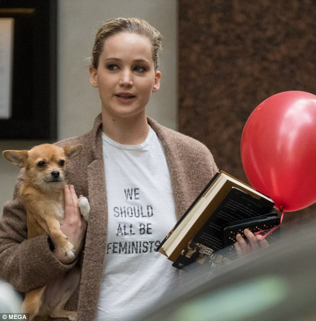 It's Dior, darling: Jennifer Lawrence declared 'We Should All Be Feminists' in a $700 designer T-shirt during an outing in London last week