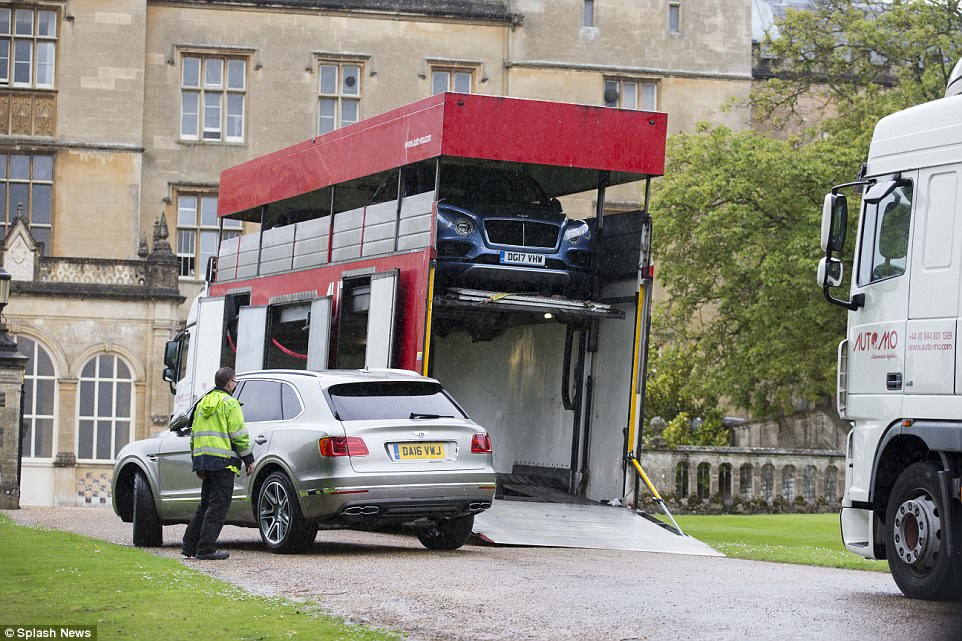 A fleet of Bentley Bentayga 4x4 were delivered to Englefield House just days before Pippa Middleton's wedding to James Mathews, which could well be the cars that will ferry guests from the church to the Middleton family home