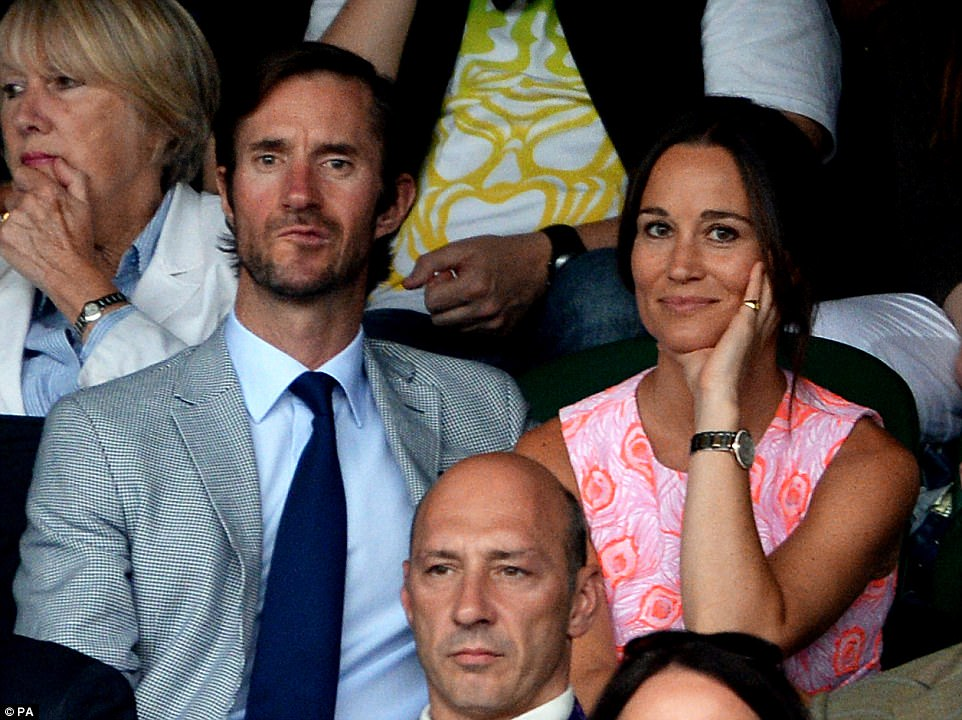 James dated Pippa briefly some ten years ago but remained firm friends with Kate's sister and invited her on holiday last year where they sealed their romance