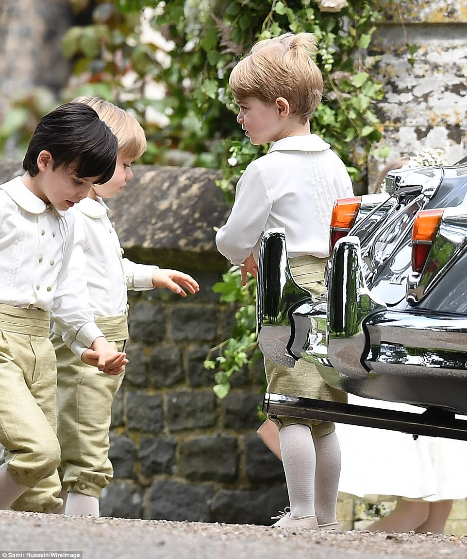 Prince George made an adorable page boy as he joined his pals on his aunt's big day