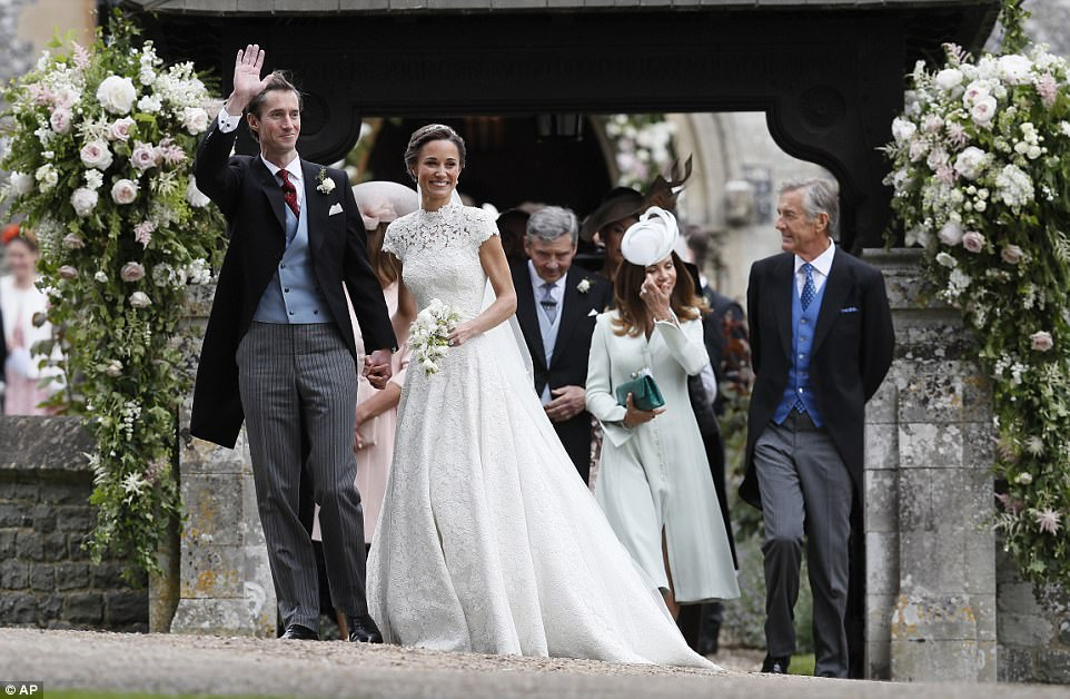 James, a hedgefund manager from London, whose parents own the Eden Roc hotel group, couldn't hide his joy after marrying the woman of his dreams