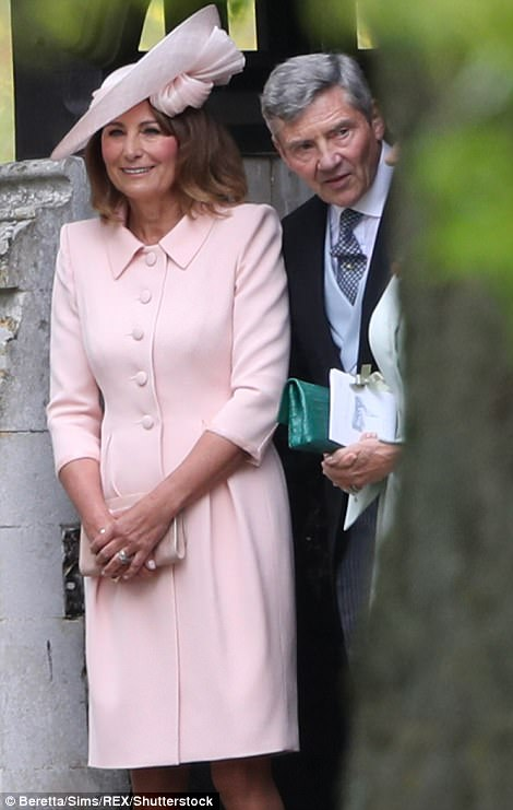 Pippa's proud parents Carole and Michael looked delighted as they left the church after watching their youngest daughter say her vows
