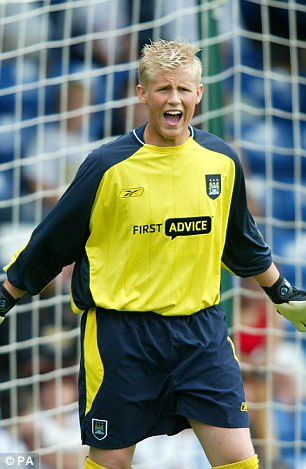 Kasper Schmeichel (pictured in 2003) is set for a return