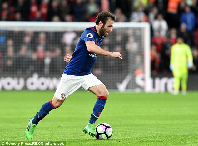 The likes of Juan Mata and Anthony Martial could be included to add first-team know-how