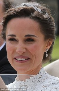 Pippa recycles diamond earrings she wore to royal wedding ...