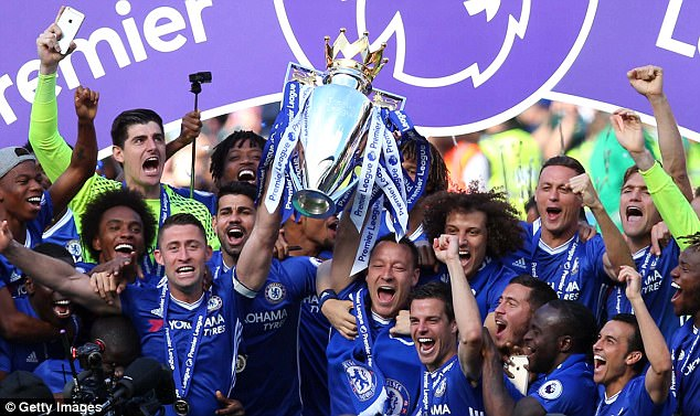 Chelsea won the Premier League title in Antonio Conte's first season at Stamford Bridge