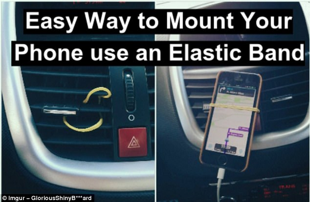 Money-saver: Your journey will be much smoother with a mounted map system, but you needn't bother purchasing an expensive gizmo when an elastic band will do
