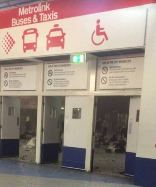 This distressing picture purportedly shows the inside of the arena after the suicide attack at the Ariana Grande concert - its veracity has been confirmed by the two witnesses