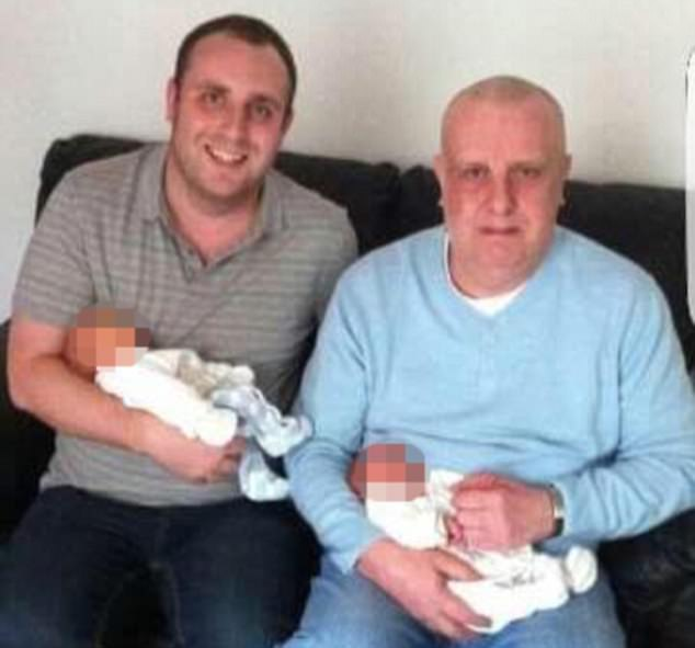 Jimmy Ballentine (right, pictured with his son Dale) was investigated by the Department for Work and Pensions after wrongly receiving handouts for 10 years