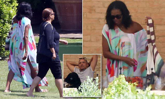 Michella and Barack Obama relax at a luxury Italian villa