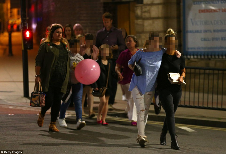 Crowds of children could be seen streaming outside of the arena throughout the evening as the scale of the attack became clear